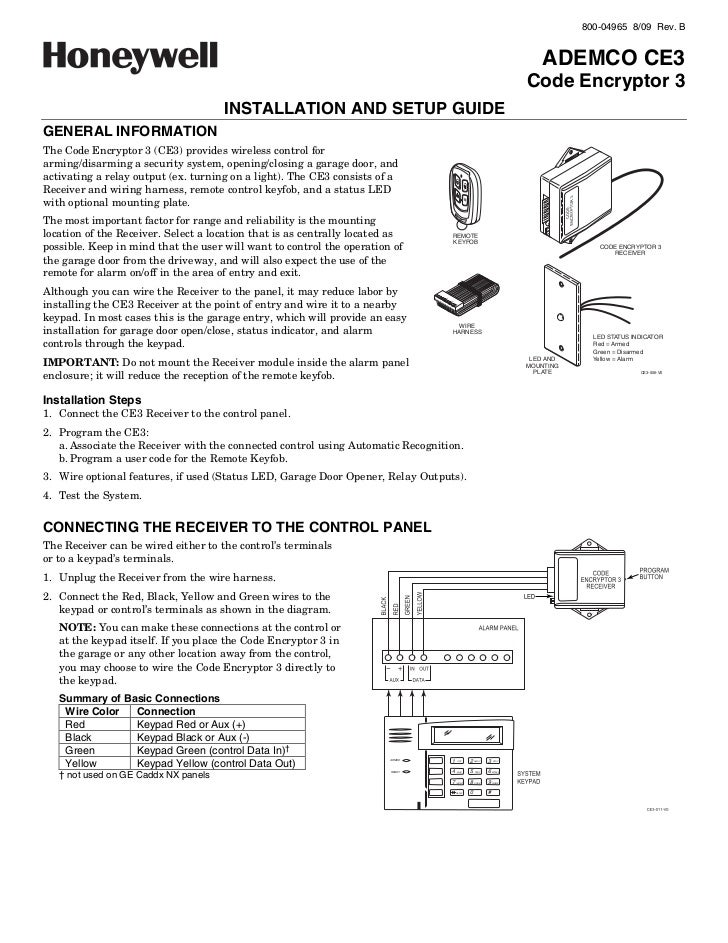 Honeywell ce3-install-guide
