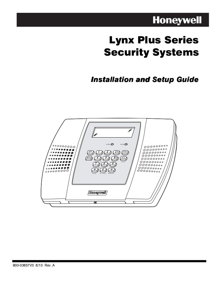 Lynx Plus Series                                                         Security Systems                                 ...