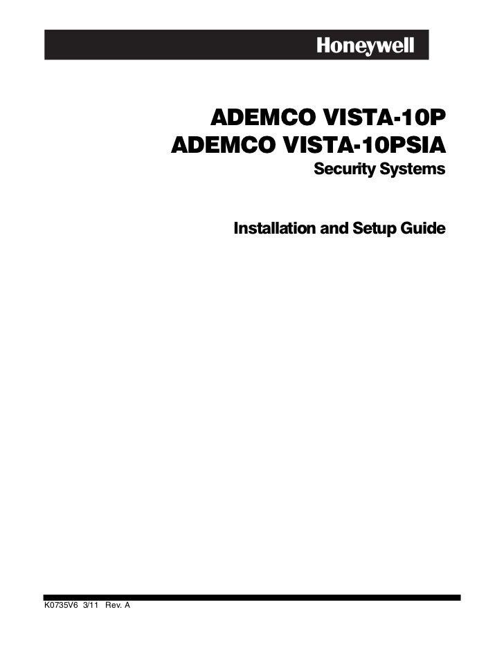 ADEMCO VISTA-10P                      ADEMCO VISTA-10PSIA                                    Security Systems             ...