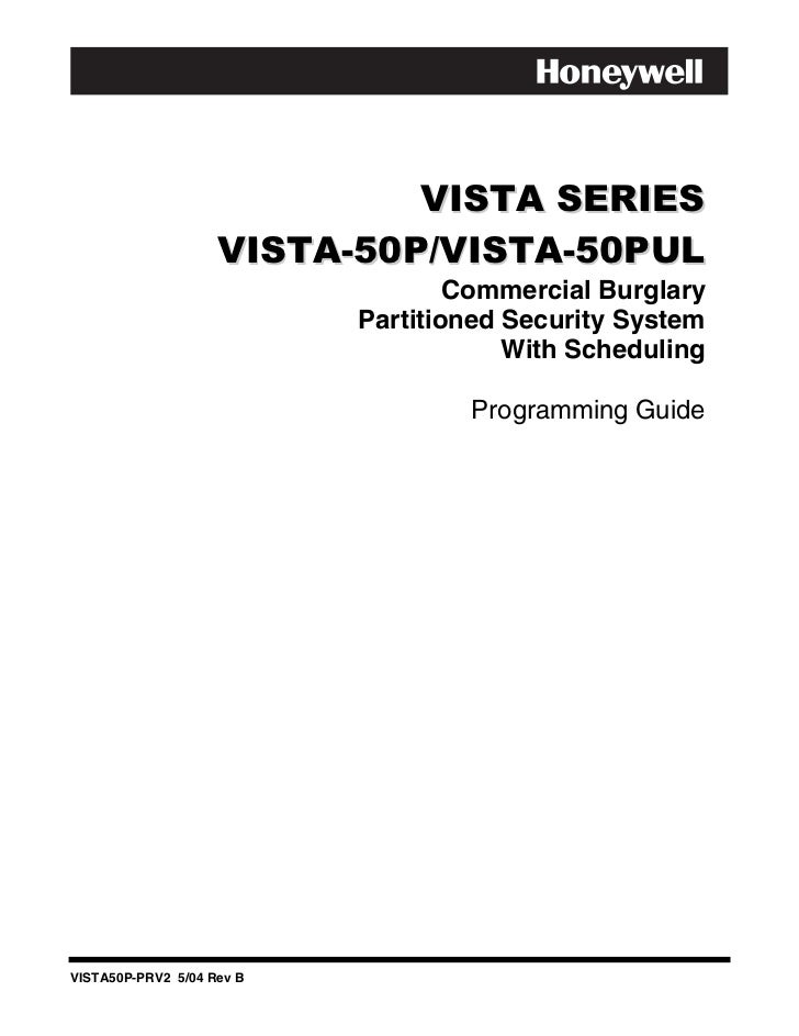 Honeywell vista-50p-programming-guide