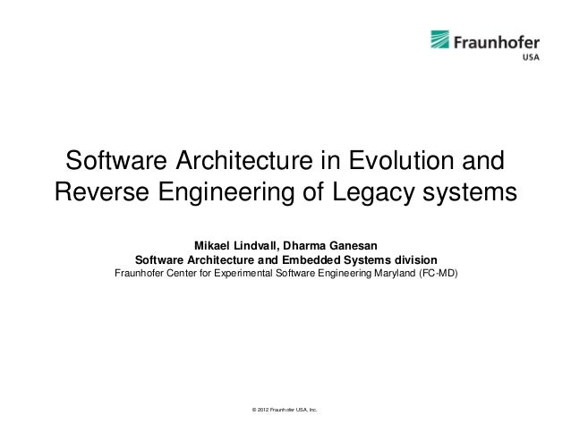 Software Architecture in Evolution andReverse Engineering of Legacy systems                   Mikael Lindvall, Dharma Gane...