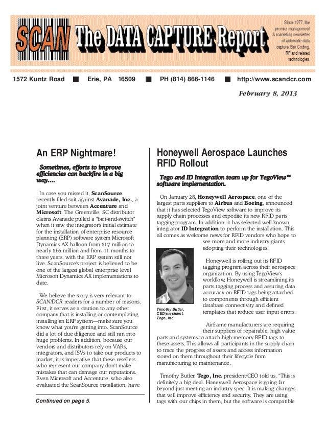 February 8, 2013 Honeywell Aerospace Launches RFID Rollout TTeeggoo aanndd IIDD IInntteeggrraattiioonn tteeaamm uupp ffoor...