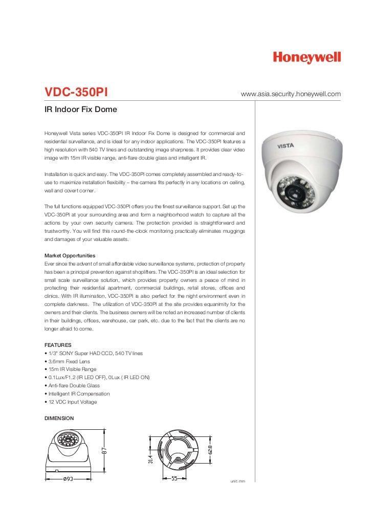 VDC-350PI                                                                                      www.asia.security.honeywell...