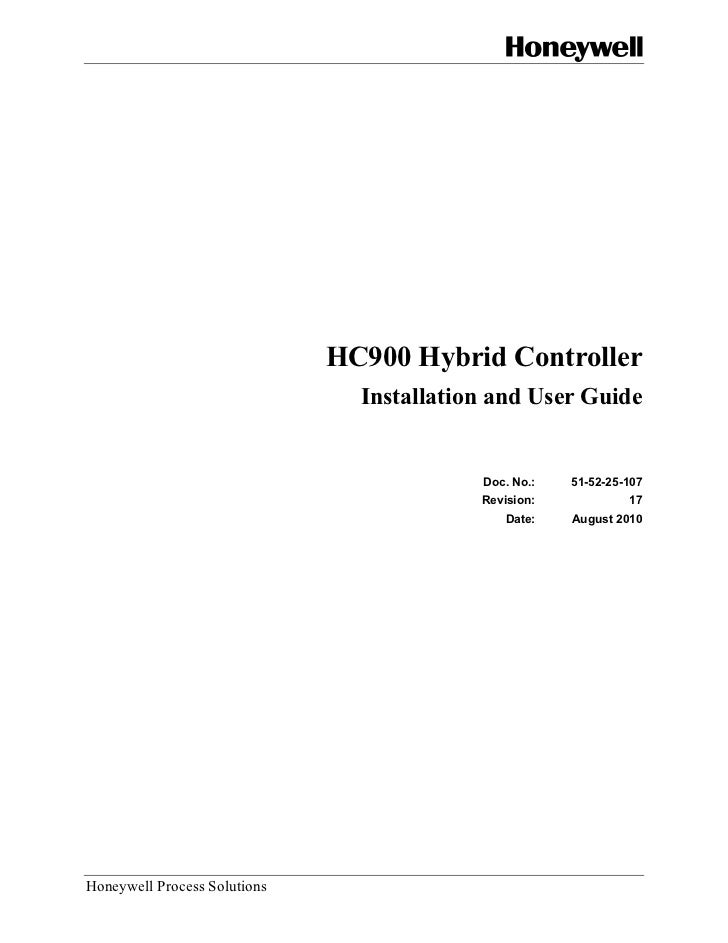 HC900 Hybrid Controller                                Installation and User Guide                                        ...