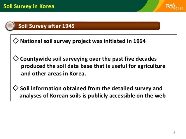 Soil and environmental information system of koreasystem for Soil web survey