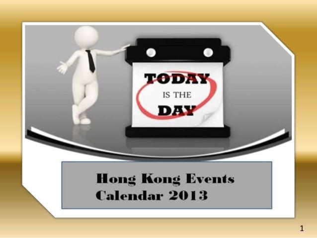 Hong kong events calendar 2013