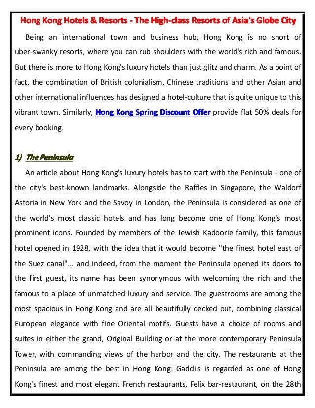 Hong Kong Hotels and Resorts