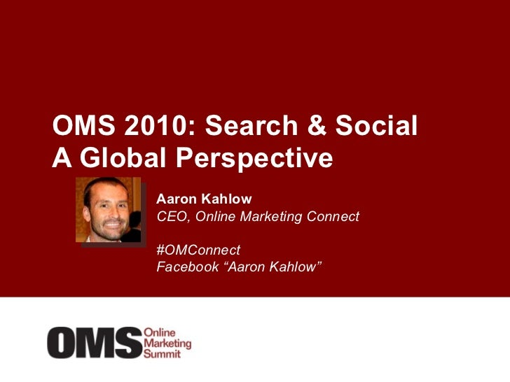 Search & Social Media: A Global Perspective on What Drives Results for UK / US Marketers and How it Applies to All Markets