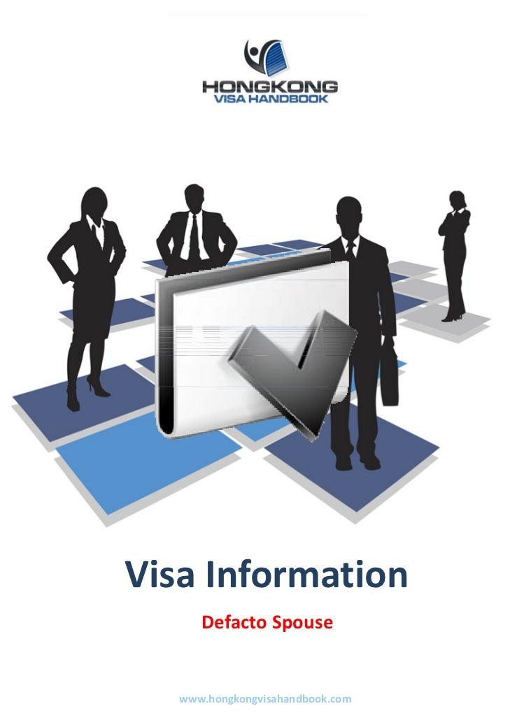 VisaInformation      DefactoSpouse   www.hongkongvisahandbook.com