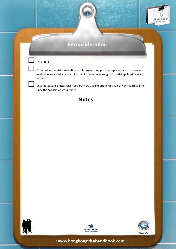 Hong Kong Visa Refusal Reconsideration Documentation Required
