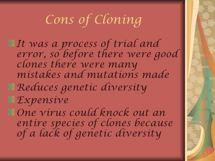 an essay on the controversial issue of human cloning