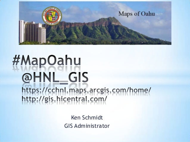 GIS Expo 2014: Maps of Oahu