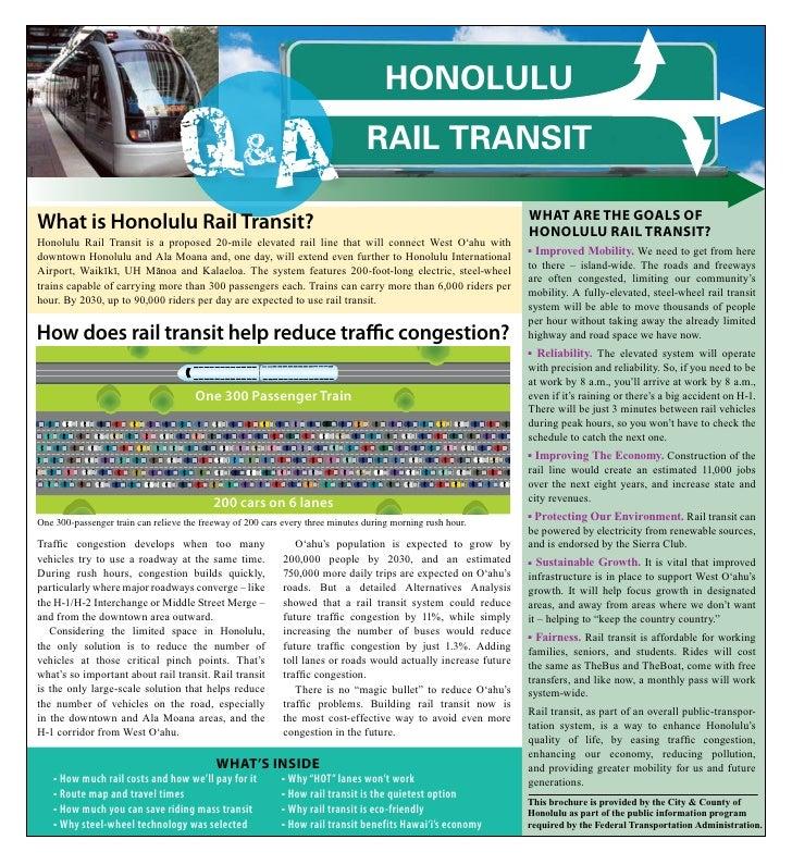 Honolulu                                    QA             &                            Rail TRansiT                      ...