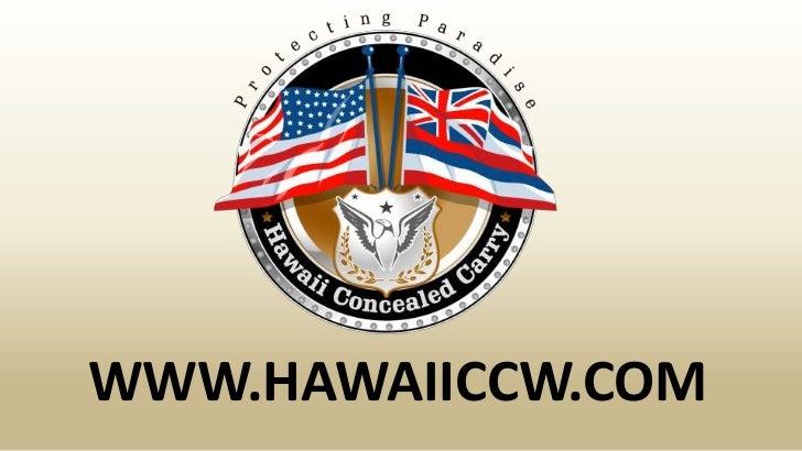 Honolulu revised statute hrs 134-1 general regulations