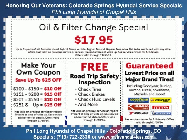 service oil deals coupons hyundai specials change get repair auto honda