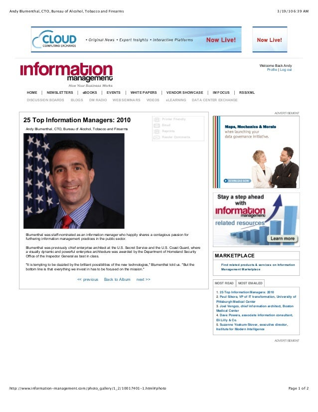 25 Top Information Managers