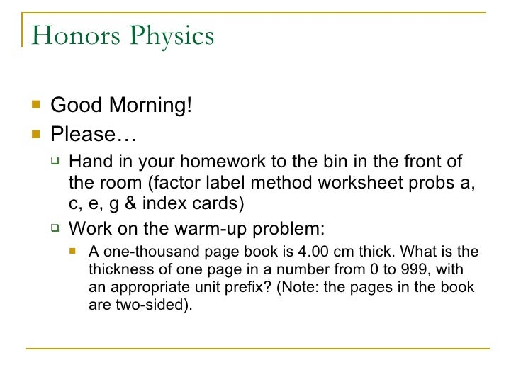 Honors methods of motion