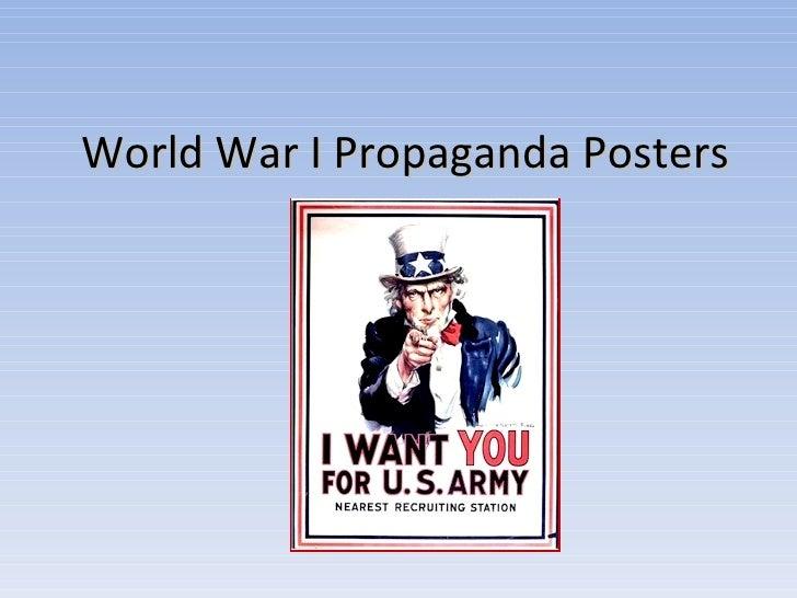World War I Propaganda Posters