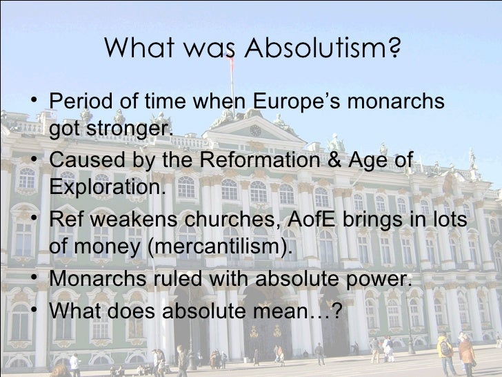 essay on absolutism and democracy