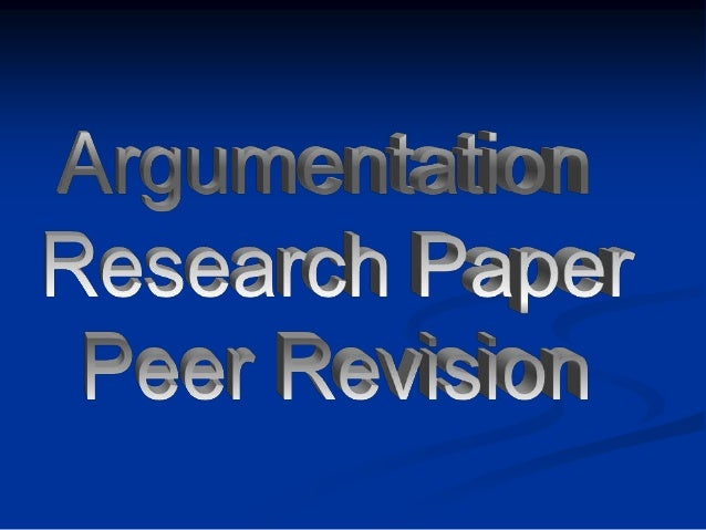 Honors iii argumentative research revision