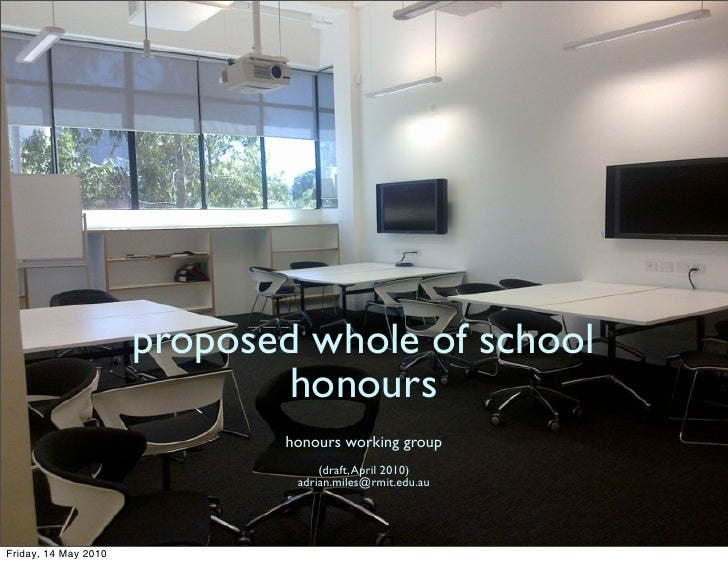 proposed whole of school                               honours                              honours working group         ...