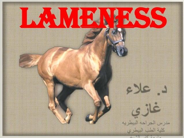 lameness (equine hoof affections) Dr. Alaa Ghazy