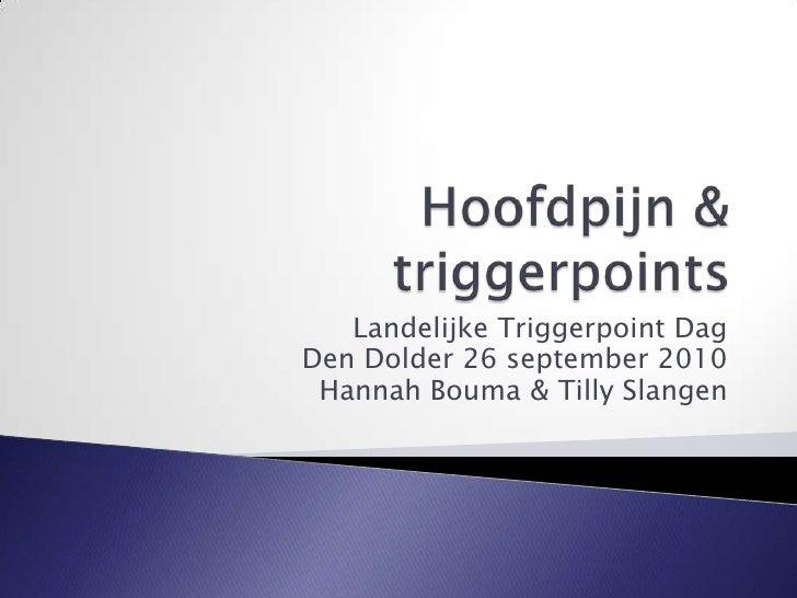 Hoofdpijn en triggerpoints   ltpd 26 september 2010