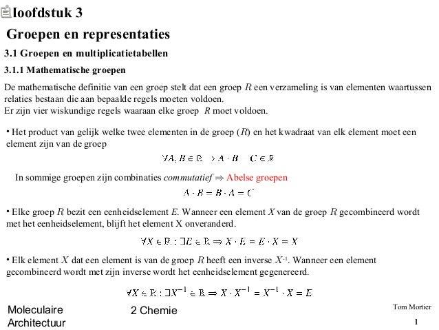 Moleculaire Architectuur - Groepen en Representaties