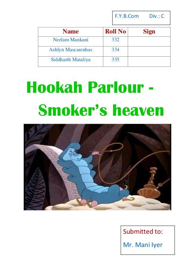 Hookah parlours
