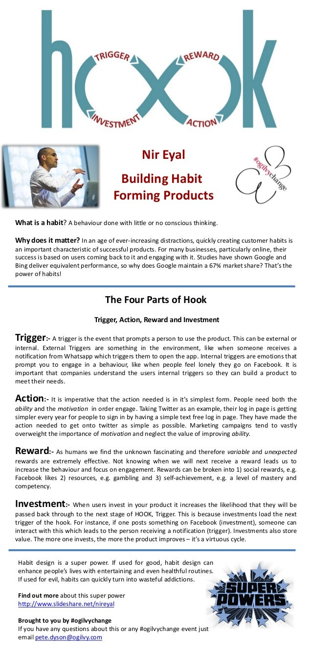 What is a habit? A behaviour done with little or no conscious thinking. Why does it matter? In an age of ever-increasing d...