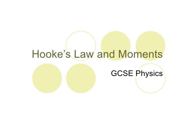 Hooke's law and Moments