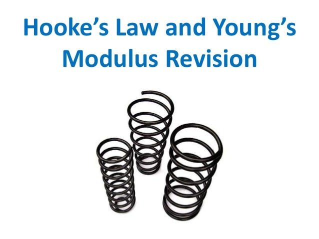Hooke's Law and Young's Modulus Revision