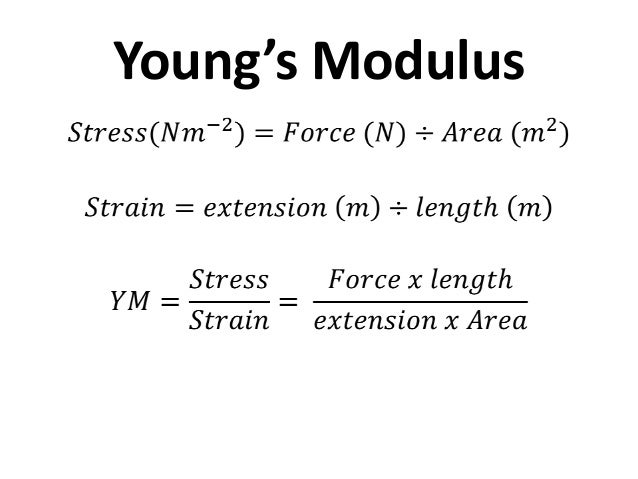 hookes law and youngs modulus relationship