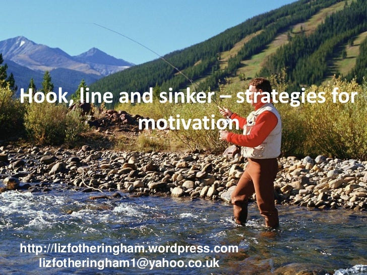 Hook, line and sinker – strategies for             motivationhttp://lizfotheringham.wordpress.com   lizfotheringham1@yahoo...