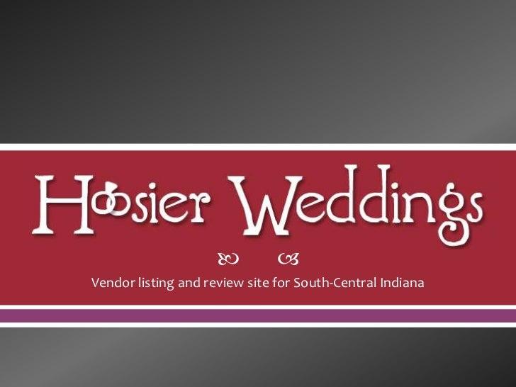Hoosier Weddings Proposal