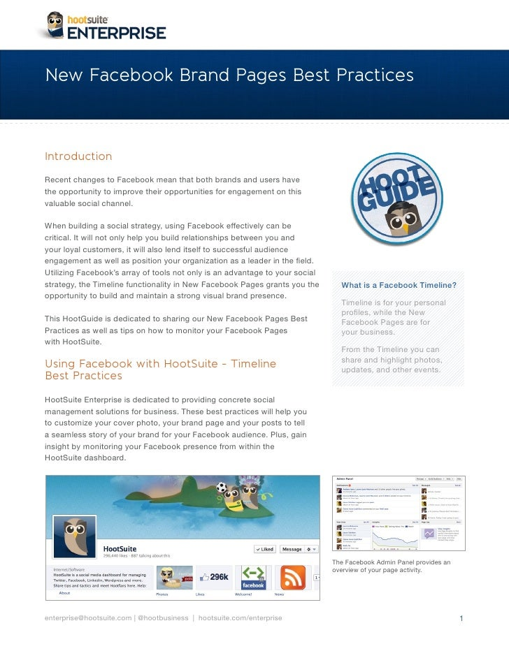 New Facebook Brand Pages Best PracticesIntroduction                                                                      W...