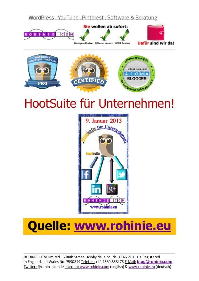 HootSuite für Unternehmen!...