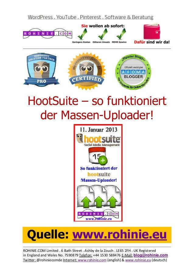 HootSuite - so funktioniert der Massen-Uploader