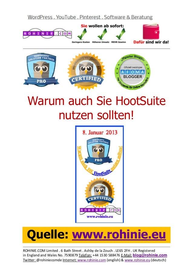 Warum auch Sie HootSuite ...