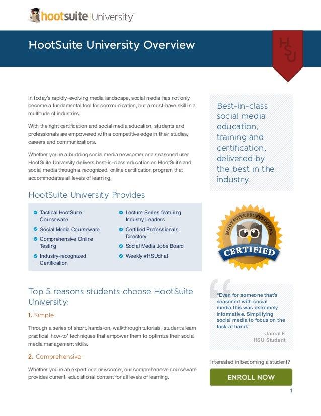 HootSuite University Social Media Overview