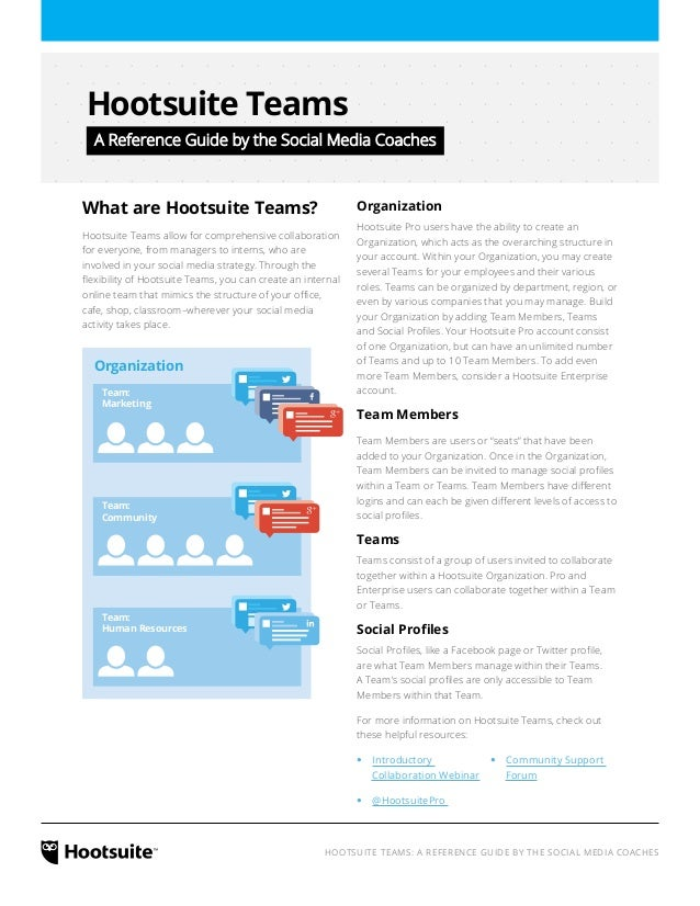 HootSuite Teams: A Reference Guide by the Social Media Coaches