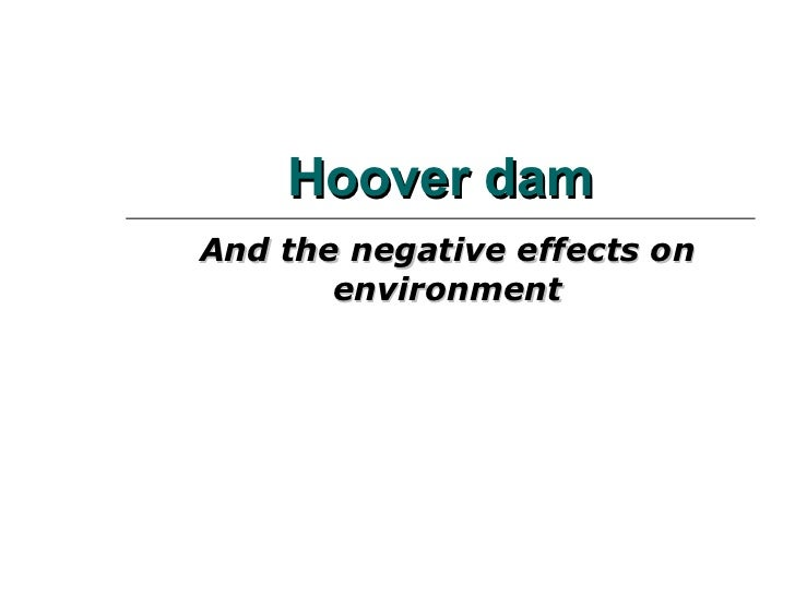Hoover Dam And The Negative