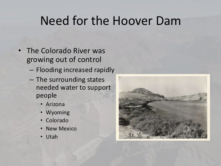 Need For The Hoover Dam