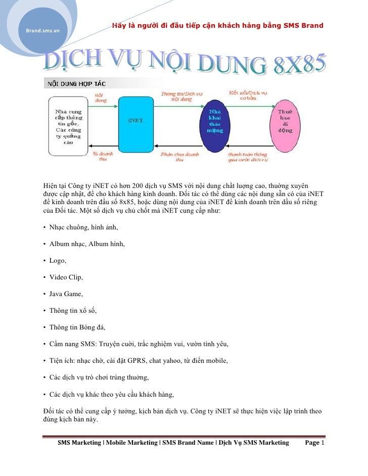 Dịch Vụ Nội Dung Hợp Tác 8x85