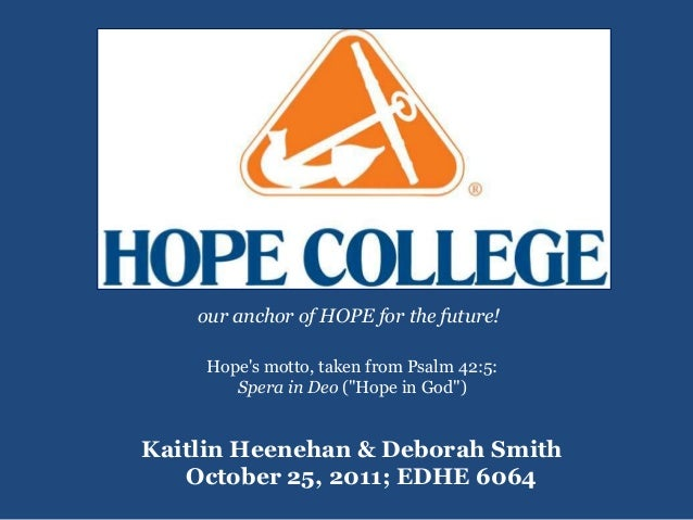 Hope College Presentation