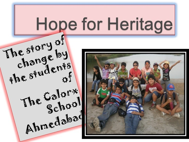 IND-2012-186 The Calorx School Hope for Heritage