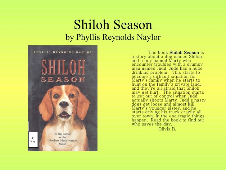 book report on shiloh Shiloh (the shiloh quartet) shiloh (shiloh series book 1) very good reading for 8 year old report published 1 month ago.