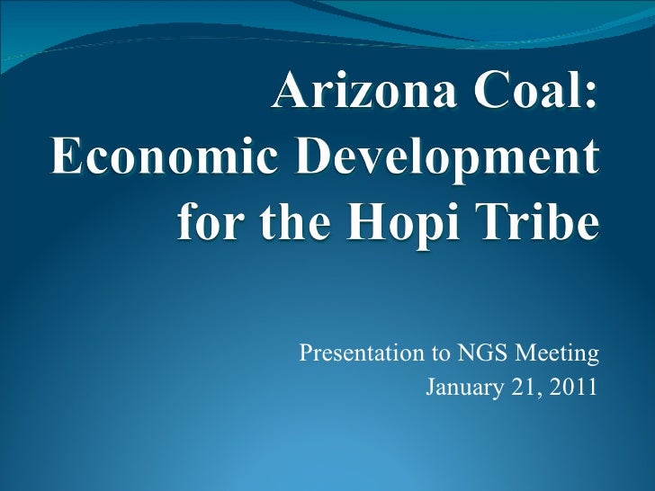 Presentation to NGS Meeting January 21, 2011