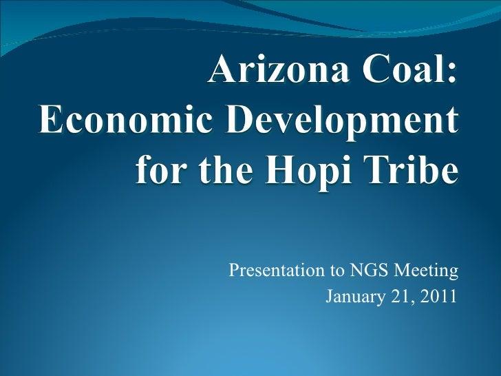 Arizona Coal: Economic Development for the Hopi Tribe