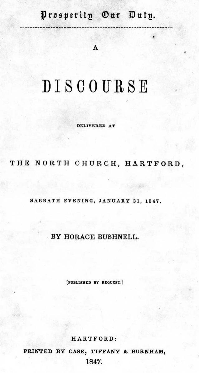Horace Bushnell, Prosperity Our Duty, 1847